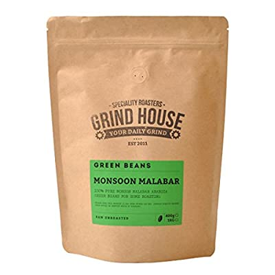 Grind House Monsoon Malabar Green Coffee Beans for home roasting 400g from Grind House Speciality Roasters