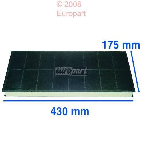 296178Carbon Filter für Dunstabzugshaube Fan 430x 175mm - 175 Mm, Carbon