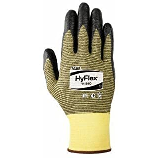 HyFlex Light Cut Protection Gloves, Size 8, Black by Ansell