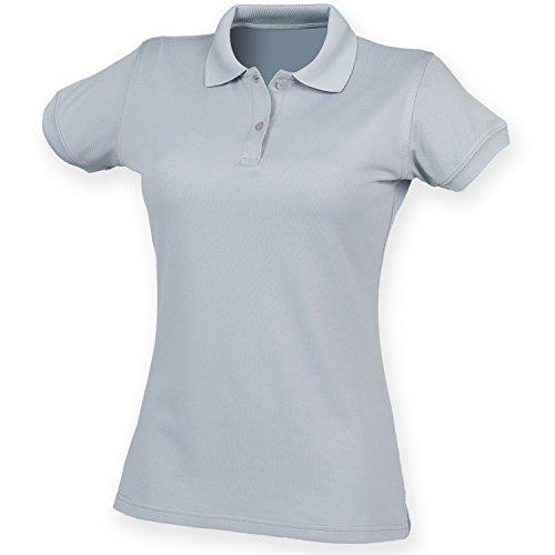 Polo forme ajustée évacuant l'humidité Henbury Coolplus® pour femme Gris argent