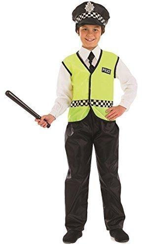 Jungen Kostüm - Polizist Britische Uniform Verkleidung - Gelb, EU 140-152