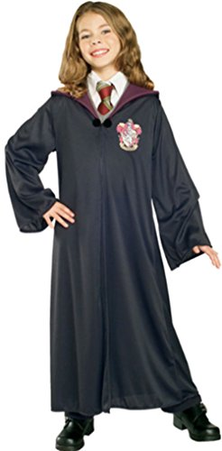 Harry Potter Kostüm Jünger Erwachsene Gryffindor Slytherin Ravenclaw Hufflepuff Adult Child Unisex Schule lange Umhang Mantel Robe(Gryffindor for Child)