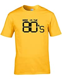Naughtees clothing - Made in the 80's t-shirt. Great for retro parties, back to school discos or showing you're proud to be a child of the 80's.