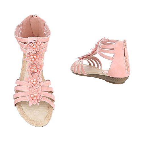 Scarpe Con Zeppa Ital-design Scarpe Da Donna Zeppa Tacco Zeppa Zeppa Sandali Con Tacco E Sandali Rosa Bl98703x-sp