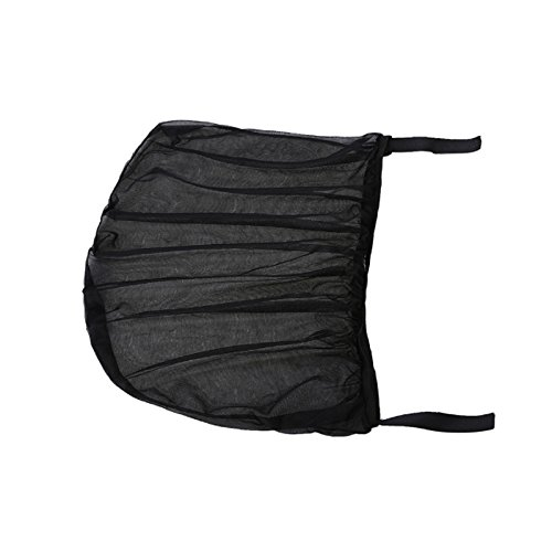 TiooDre 2pcs Vista posterior de la ventana lateral Parasol malla tela parasol Ombre cubierta escudo protector UV Negro Auto Parasol Cortina