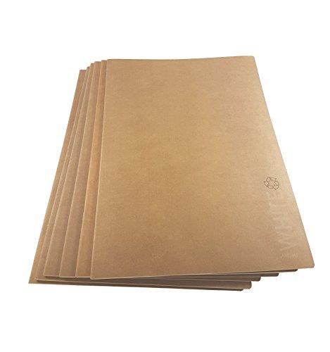 Artway - Skizzenheft - weißes Zeichenpapier - Umschlag aus Kraftpapier - Recycling-Qualität - 28 Seiten mit 130 g/m² - A3 (6 Bücher) (A3-umschläge Weiß)