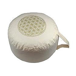 """Herbalind AZ6655 Yogakissen/Meditationskissen""""Blume des Lebens"""", beige"""