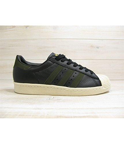 designer fashion 0e453 3b491 adidas Superstar 80s, Scarpe sportive Uomo, Core Black   Night Cargo   Core  Black