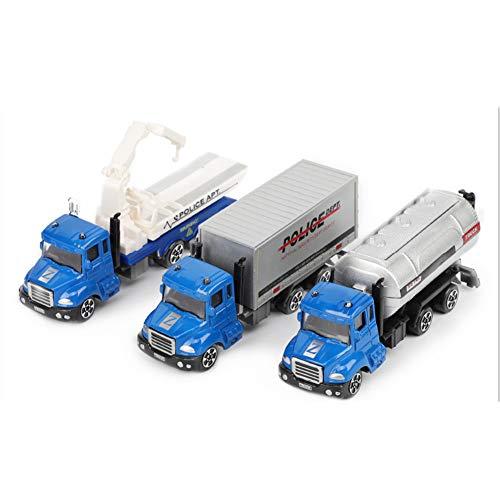 Hobabld Kinder Spielzeug Transporter Auto 1:64 Legierung Automodell Simulation Bagger Modell Geeignet Alle Festliches Geschenk für Kinder,Blue