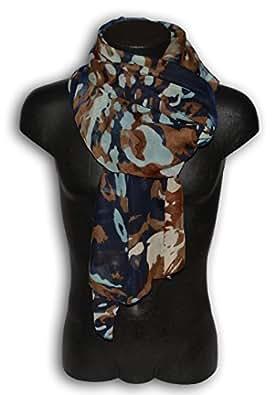 Foulard pashmina foulard unisexe homme femme camouflage militaire bleu brun beige