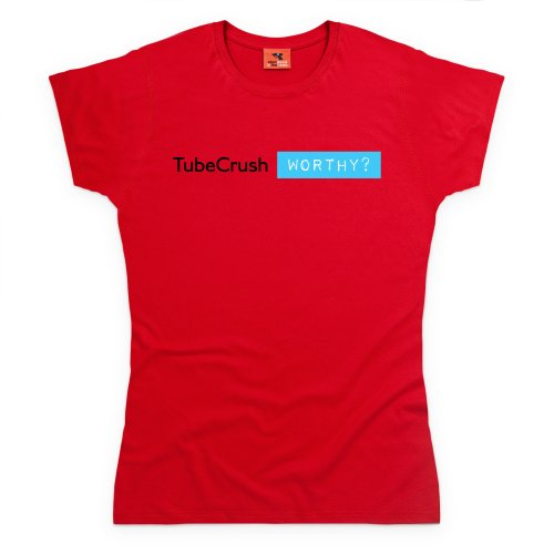 Tube Crush Worthy T-Shirt, Damen Rot