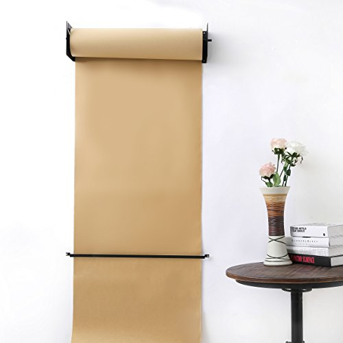 Rollo de papel Kraft reutilizable montado en la pared Papel Kraft Rollo de papel Dispensador de papel para el hogar Oficina Restaurante Cafetería y Etc