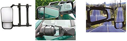 Retroviseur double - Remorque Caravane - Réglable - Vert ou horiz. Luxe