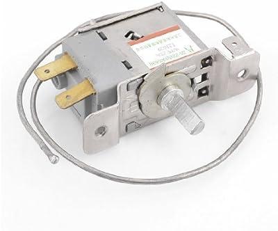 Sourcingmap a13102200ux0493 - Wpf22a 2 pines termostato de refrigeración refrigerador w 30cm cuerda de metal
