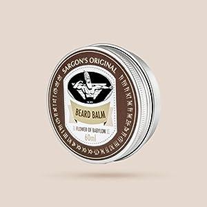 Sargon's Original Bartbalsam/Beard Balm -Flower of Babylon – fruchtig-frischer und dezent blumiger Duft – 60ml – 100% natürlich – Made in Germany