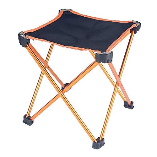 ZSLLO Campingstuhl Mini tragbare klappstuhl Camping hocker Outdoor Grill Camping Angeln Tourismus Strand Indoor Oxford Tuch Aluminium hocker (schwarz) Klappstuhl