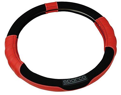 SPARCO SPC1108RS Sport Line coprivolante per Auto in Poliestere Universale Nero e Rosso 38cm