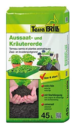 Brill Terreau extra-fin pour semis et culture de légumes et de plantes aromatiques45 l