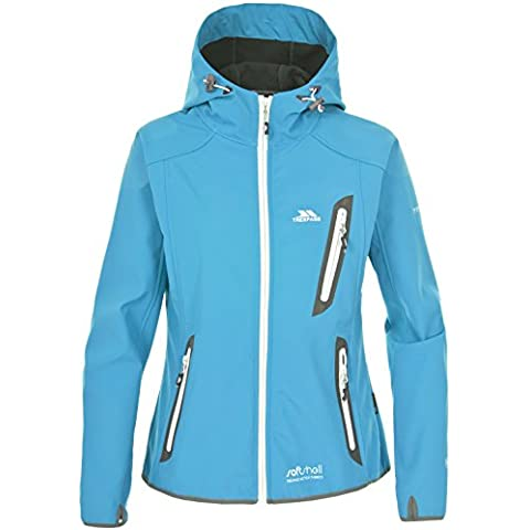 Trespass Sirena - Soft shell para mujer, color azul, talla 2XL