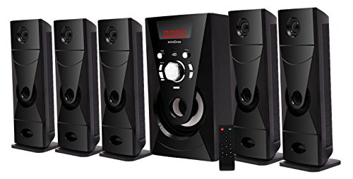 "KRISONS (Bazooka 5.25"" Woofer) 5.1 Bluetooth Multimedia Speaker for Home/Theatre Use"