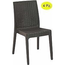 Sedie Da Giardino In Pvc.Sedie Giardino Plastica Amazon It
