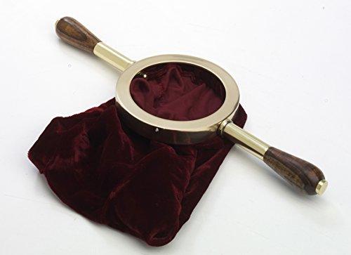 Preisvergleich Produktbild Klingelbeutel Messing D 13 cm,  Messing,  Gold