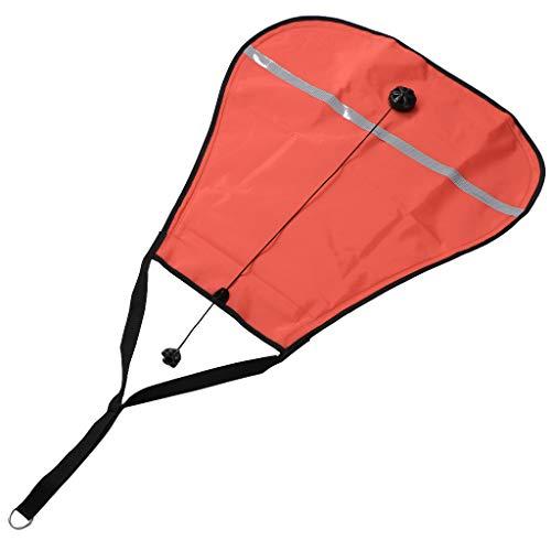 CUTICATE Lift Bag zum Tauchen Schnorcheln Unterwasser offenes Wasser Triathleten - Orange, 70lbs