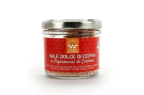 Delizioso Shop - Cervia Süße Salz - Aromatische Salz mit Hot Pepper Kalabrien - Saison für Geflügelfleisch , gegrillter (Bio-saison Salz)