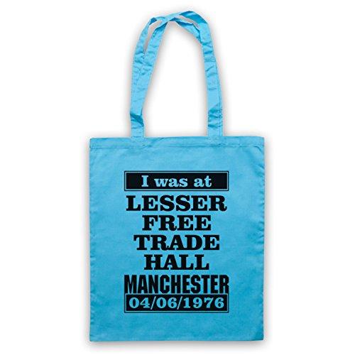 I Was At Lesser Free Trade Hall Manchester borsa custodia Azzurro