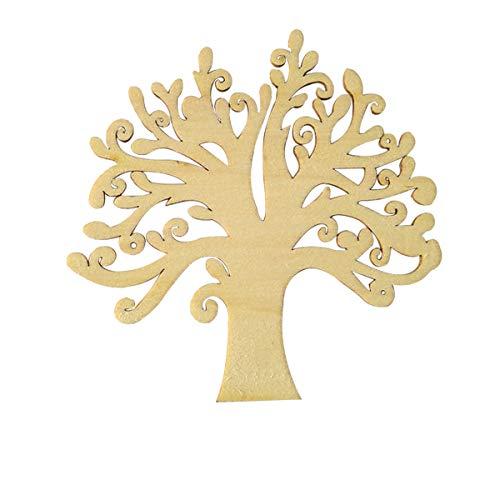 Trimmen Shop Holz Verzierungen für, Gravur Familie Baum mit Hallow Design, DIY Handwerk, Weihnachten, Hochzeit, Scrapbook Dekoration, 10er-Pack, 12,7 cm
