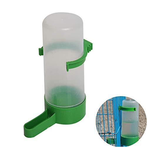 Toruiwa 1X Papageien Trinkflaschen Wasserspender Wasserflasche Hänger für Papageien Vogel Taube (L)