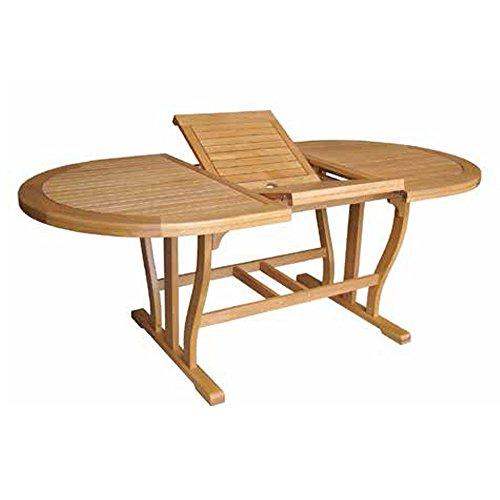 Tavolo legno acacia gold allungabile doppio bordo arredo giardino AC805078DB