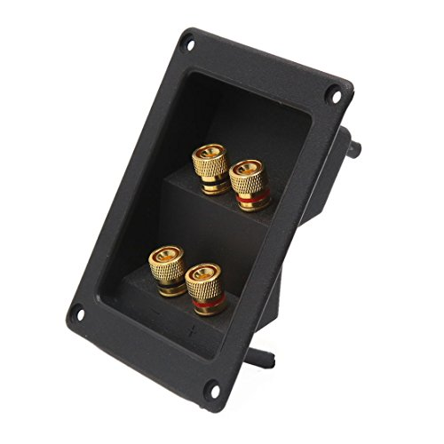 sourcingmap Audio Lautsprecher Box Feder Binding Post 4 Terminal Verbinder Board für Auto DE de