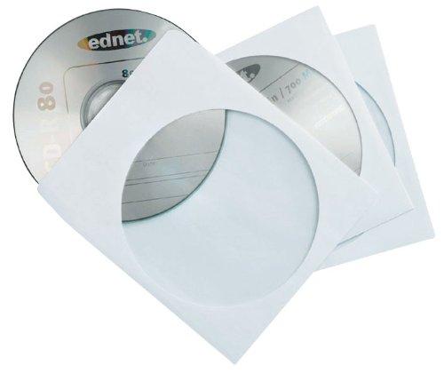 Ednet 50 CD/DVD Paper Sleeves Shopschachtel