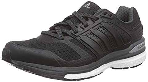 adidas Supernova Sequence Boost 8, Women's Running Shoes, Black (Core Black/Core Black/Dgh Solid Grey), 4