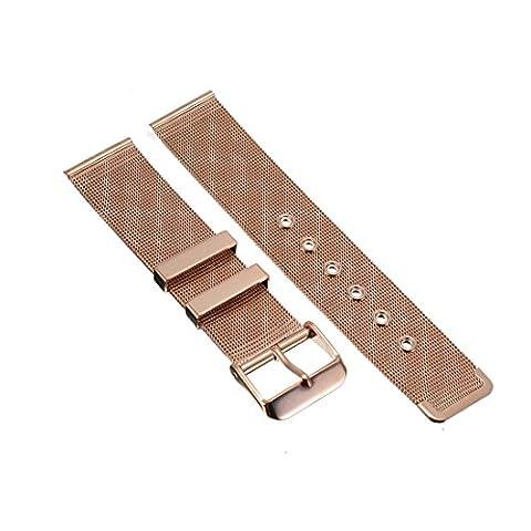 18mm Herren Damen Rosegold Stahl Edelstahl Quarz Wrist Uhren-Armband Uhrenarmbänder Uhrband Watch Band Watch Strap Uhr Unisex mit Dornschließe