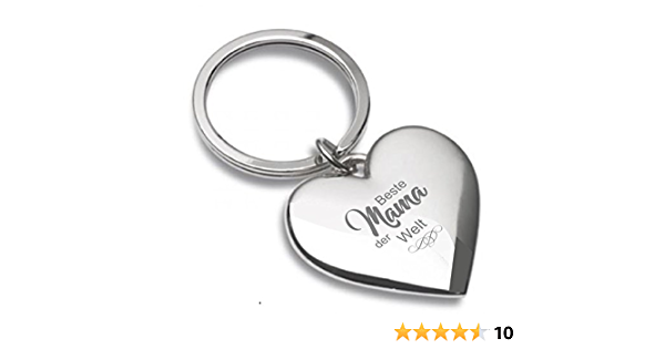 Schlüsselanhänger Herz Silberglänzend Mit Gravur Beste Mama Der Welt Almere 04 Küche Haushalt