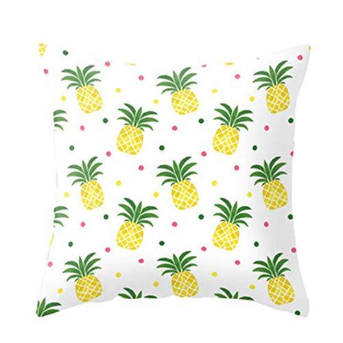 kanggest 1er Set Kissenbezug Kissenhülle Ananas Muster Baumwolle und Leinen Kissen Case Sofa Werfen Home Decor 45cmX45cm (Werfen Kissen Ananas)