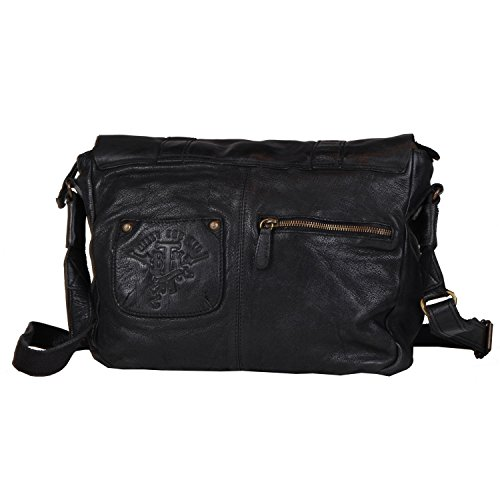 Billy the Kid Daytona Serviette - Porte-documents cuir 38 cm compartiment tablette Black