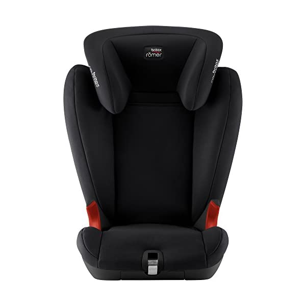 Britax Römer KIDFIX SL BLACK SERIES Group 2-3 (15-36kg) Car Seat - Cosmos Black  Simple installation - soft-latch isofit system Misuse limiting design - intuitively positioned seat belt guides Lightweight - easy to transfer between cars 2