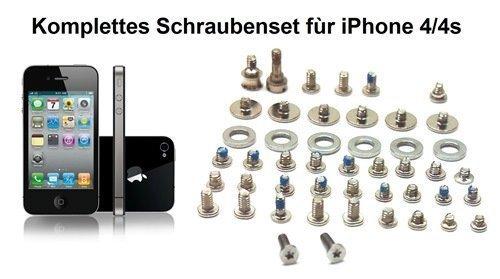 IPHONE 4 - 4S SCHRAUBENSET KOMPLETTSET KREUZSCHRAUBEN INKL. UNTERLEGSCHEIBEN FÜR DEN KOMPLETTEN AUSTAUSCH DER IPHONE SCHRAUBEN (Iphone 4 Schrauben)