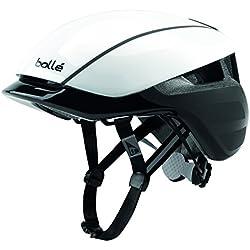 Bollé Messenger Premium Cascos Ciclismo, Unisex Adulto, White/Black, 54-58 Cm