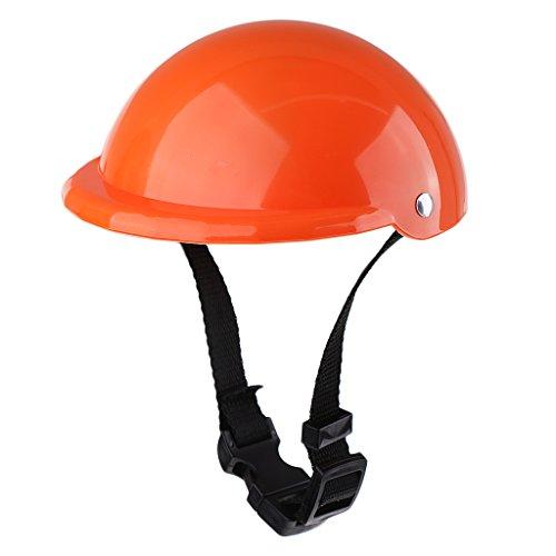 Baoblaze Miniatur Einstellbare Kunststoff Schutzhelm Fahrradhelm für 18 Zoll Mädchen Puppe - Orange