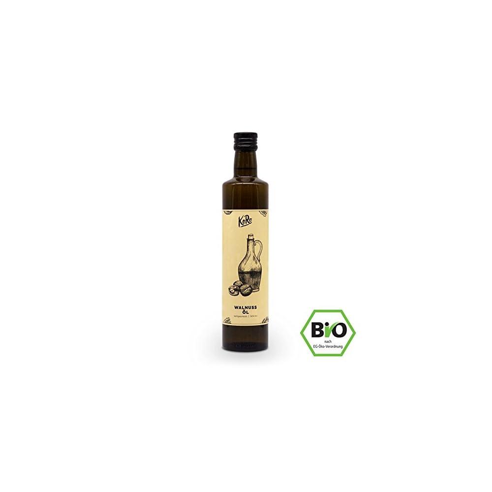 Koro Bio Walnussl 500 Ml 05 Liter Pflanzlich Kaltgepresst Feinschmecker Vegan 100 Bio Walnsse Naturkost
