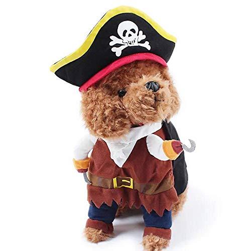 d Kostüm Katze Piraten Karibik Stil Halloween Weihnachten Bekleidung Kleidung Hut - Größe L ()