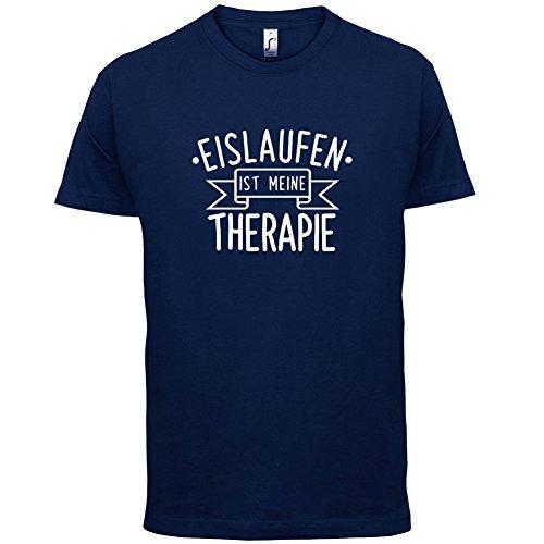 Eislaufen ist meine Therapie - Herren T-Shirt - 13 Farben Navy