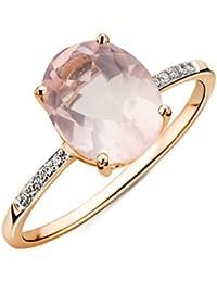 Miore - Bague -  9 ct Oval Quartz - Bague de diamant,