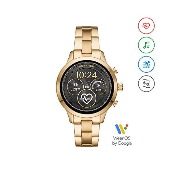Michael Kors Smartwatch para Mujer con tecnología Wear OS de Google, altavoz, frecuencia cardíaca, GPS, NFC y… 2