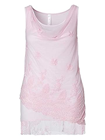 sheego Style Femmes Top long Grande taille nouvelle collection rose 42