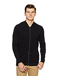 Jack & Jones Mens Cotton Sweater (1986172003_Black_L)